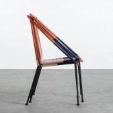 Outdoor Stuhl aus Rattan und Stahl Orag, Miniaturansicht 4