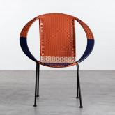 Outdoor Stuhl aus Rattan und Stahl Orag, Miniaturansicht 6