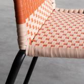 Outdoor Stuhl aus Rattan und Stahl Orag, Miniaturansicht 7