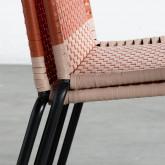 Outdoor Stuhl aus Rattan und Stahl Orag, Miniaturansicht 11