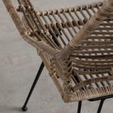 Esszimmerstuhl aus Naturrattan und Stahl Natur , Miniaturansicht 4