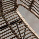 Esszimmerstuhl aus Naturrattan und Stahl Natur , Miniaturansicht 5