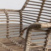 Esszimmerstuhl aus Naturrattan und Stahl Natur , Miniaturansicht 6