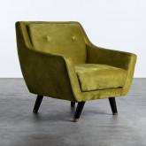Sessel mit Armlehnen aus Samt Nubo, Miniaturansicht 1