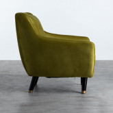 Sessel mit Armlehnen aus Samt Nubo, Miniaturansicht 3