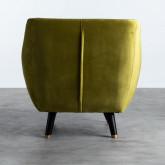 Sessel mit Armlehnen aus Samt Nubo, Miniaturansicht 4