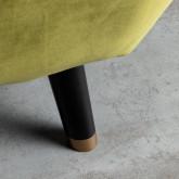 Sessel mit Armlehnen aus Samt Nubo, Miniaturansicht 5