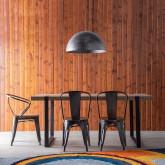 Esszimmerstuhl aus Stahl und Holz Industrial Wood, Miniaturansicht 2