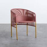 Outdoor Stuhl aus Rattan und Stahl Orka, Miniaturansicht 1