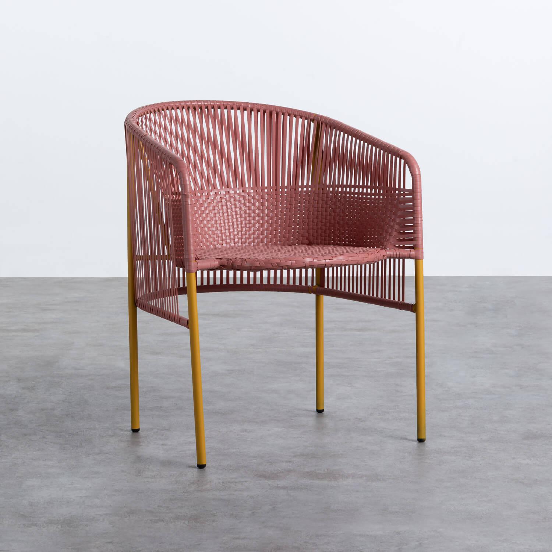 Outdoor Stuhl aus Rattan und Stahl Orka, Galeriebild 1