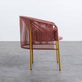 Outdoor Stuhl aus Rattan und Stahl Orka, Miniaturansicht 3