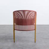 Outdoor Stuhl aus Rattan und Stahl Orka, Miniaturansicht 4