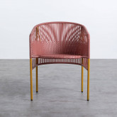 Outdoor Stuhl aus Rattan und Stahl Orka, Miniaturansicht 5