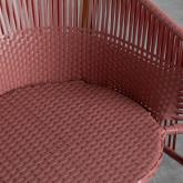 Outdoor Stuhl aus Rattan und Stahl Orka, Miniaturansicht 6