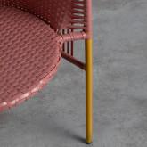 Outdoor Stuhl aus Rattan und Stahl Orka, Miniaturansicht 7