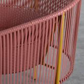 Outdoor Stuhl aus Rattan und Stahl Orka, Miniaturansicht 8