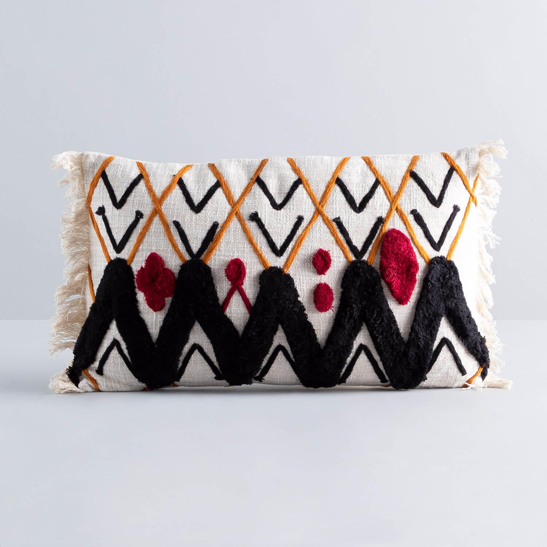 Rechteckiges Kissen aus Baumwolle (15x50 cm) Elas, Galeriebild 1
