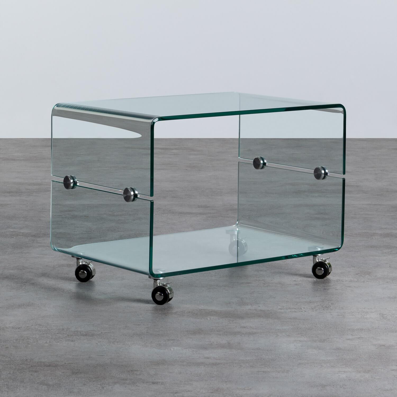 Couchtisch Rechteckig aus Glas (60x40 cm) Rolcras, Galeriebild 1