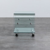 Couchtisch Rechteckig aus Glas (60x40 cm) Rolcras, Miniaturansicht 3