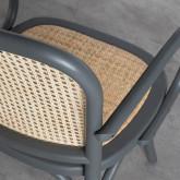 Esszimmerstuhl aus Holz und Natur Rattan Buter, Miniaturansicht 6