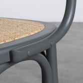 Esszimmerstuhl aus Holz und Natur Rattan Buter, Miniaturansicht 7