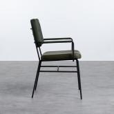 Esszimmerstuhl mit Armlehnen aus Kunstleder und Stoff Lala Vintage, Miniaturansicht 2