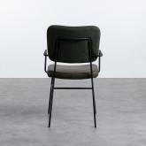 Esszimmerstuhl mit Armlehnen aus Kunstleder und Stoff Lala Vintage, Miniaturansicht 3