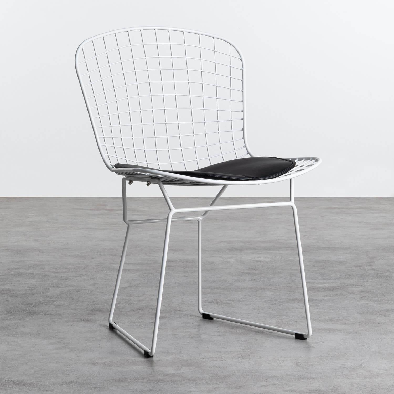Esszimmerstuhl aus Stahl Amber Edition White, Galeriebild 1