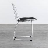 Esszimmerstuhl aus Stahl Amber Edition White, Miniaturansicht 2