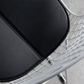 Esszimmerstuhl aus Stahl Amber Edition White, Miniaturansicht 4