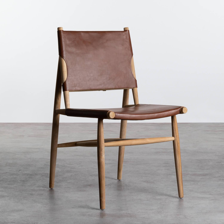 Esszimmerstuhl aus Leder und Holz Kove, Galeriebild 1