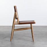 Esszimmerstuhl aus Leder und Holz Kove, Miniaturansicht 3