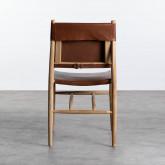 Esszimmerstuhl aus Leder und Holz Kove, Miniaturansicht 4