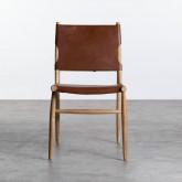 Esszimmerstuhl aus Leder und Holz Kove, Miniaturansicht 5