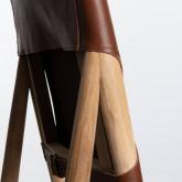 Esszimmerstuhl aus Leder und Holz Kove, Miniaturansicht 8