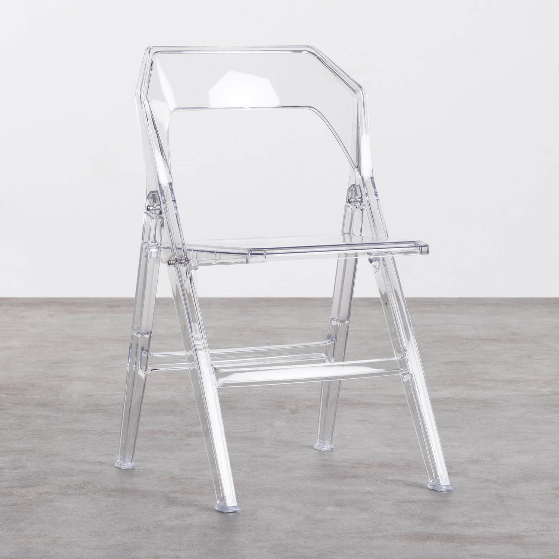 Esszimmerstuhl aus Polycarbonat Flex Clic, Galeriebild 1