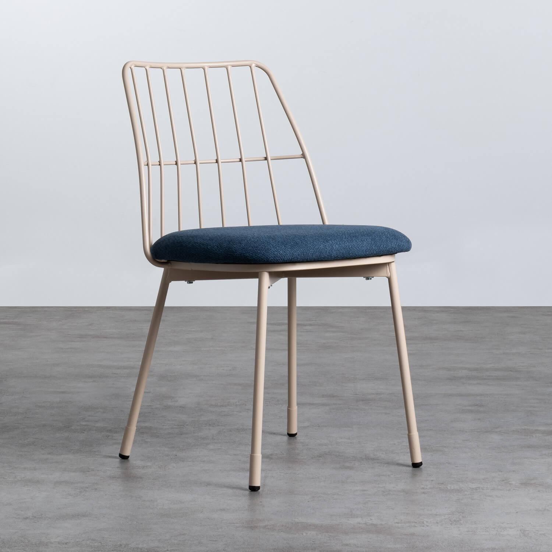 Esszimmerstuhl aus Textil und Metall Silas, Galeriebild 1