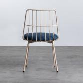 Esszimmerstuhl aus Textil und Metall Silas, Miniaturansicht 3