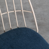 Esszimmerstuhl aus Textil und Metall Silas, Miniaturansicht 4