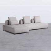 Sofa Chaiselongue links 4-Sitzer- aus Stoff Vogle, Miniaturansicht 1