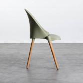 Esszimmerstuhl aus Polypropylen und Holz Odwor, Miniaturansicht 5