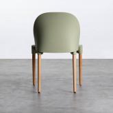 Esszimmerstuhl aus Polypropylen und Holz Odwor, Miniaturansicht 6