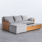 Bettsofa Chaise Longue Left 3-Sitzer- aus Stoff  Nato, Miniaturansicht 4