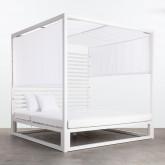 Balinesisches Liegebett aus Stoff und Aluminium Mersia, Miniaturansicht 1