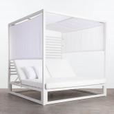 Balinesisches Liegebett aus Stoff und Aluminium Mersia, Miniaturansicht 3