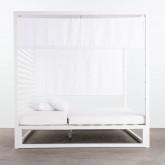 Balinesisches Liegebett aus Stoff und Aluminium Mersia, Miniaturansicht 5