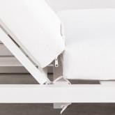 Balinesisches Liegebett aus Stoff und Aluminium Mersia, Miniaturansicht 9