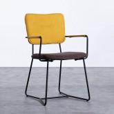 Esszimmerstuhl aus Textil und Metall mit Armlehnen Lala, Miniaturansicht 1