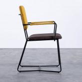 Esszimmerstuhl aus Textil und Metall mit Armlehnen Lala, Miniaturansicht 2