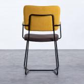 Esszimmerstuhl aus Textil und Metall mit Armlehnen Lala, Miniaturansicht 3